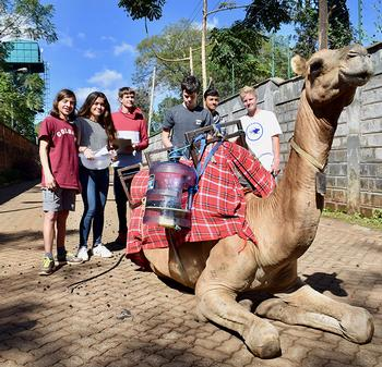 ISK Engineering Students Tackle  Deforestation, With Camels!
